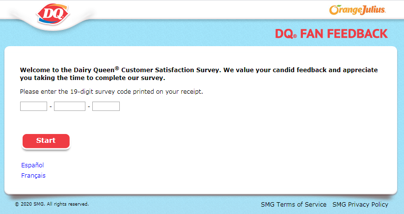 Dairy Queen Guest Experience Survey