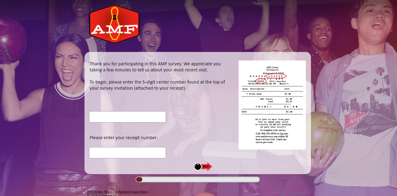AMF Bowling Centers Guest Experience Survey