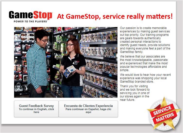 Gamestop Survey 2020