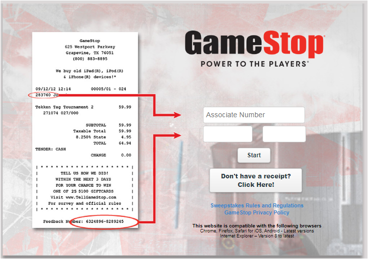 Tell Gamestop Survey 2020
