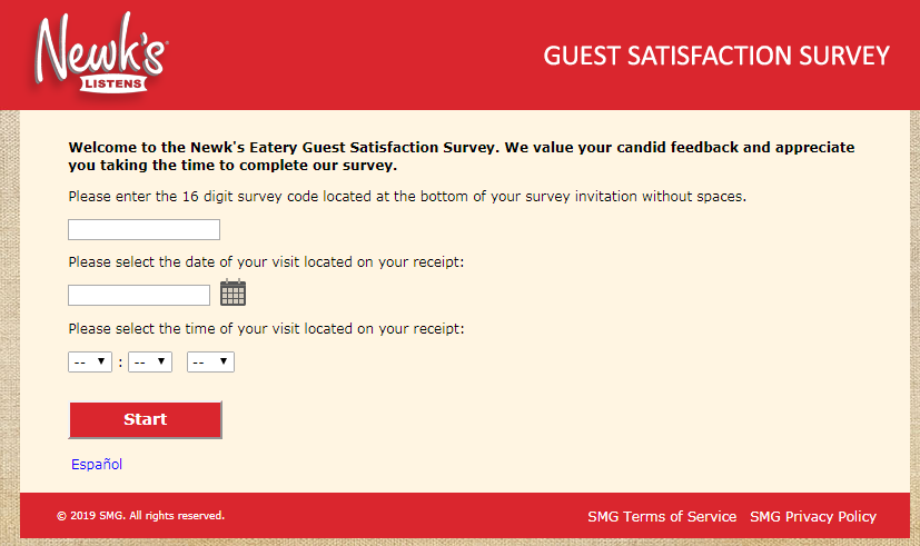 Newk's Eatery Restaurant Survey
