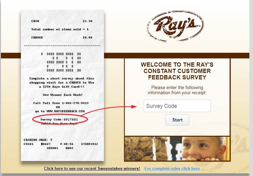 Ray's Food Place Survey