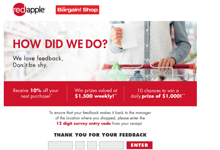 Red Apple Guest Experience Survey
