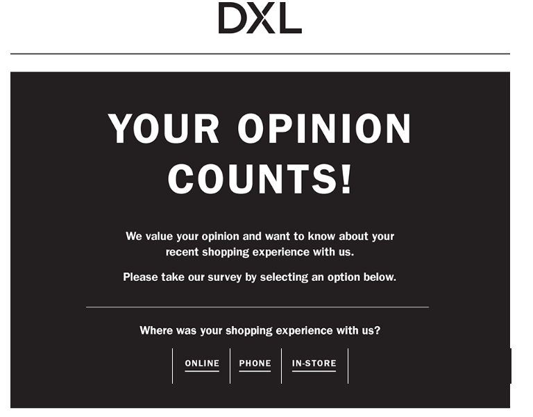 Tell Casual Male XL Survey For Casual Male Coupon