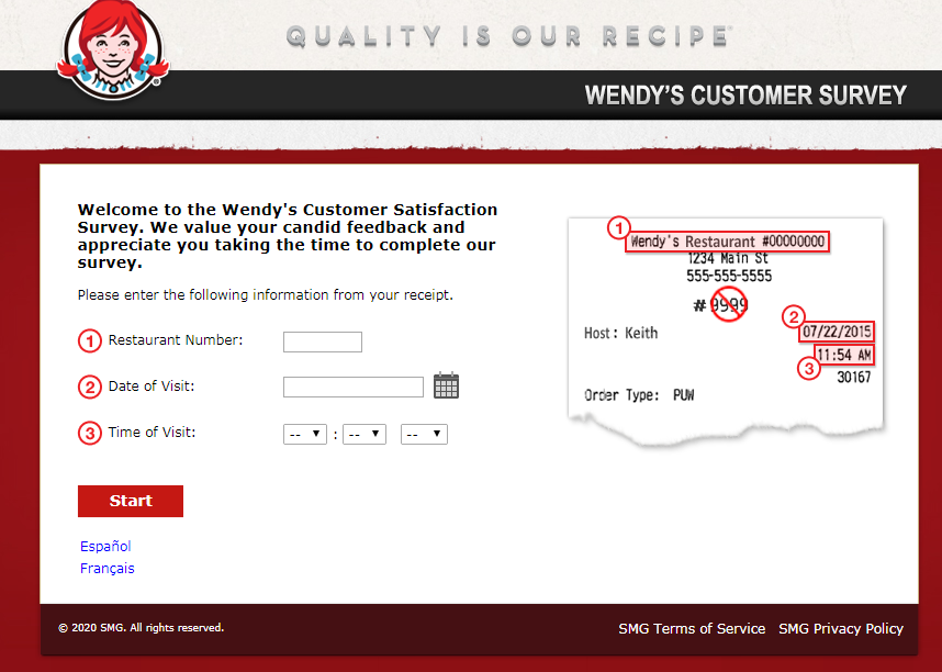 Wendy's Guest Experience Survey