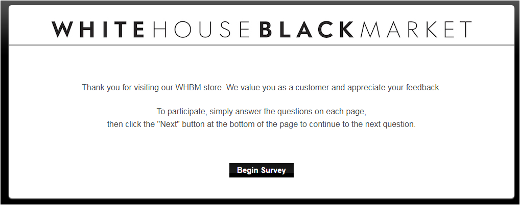 WHBM Guest Satisfaction Survey
