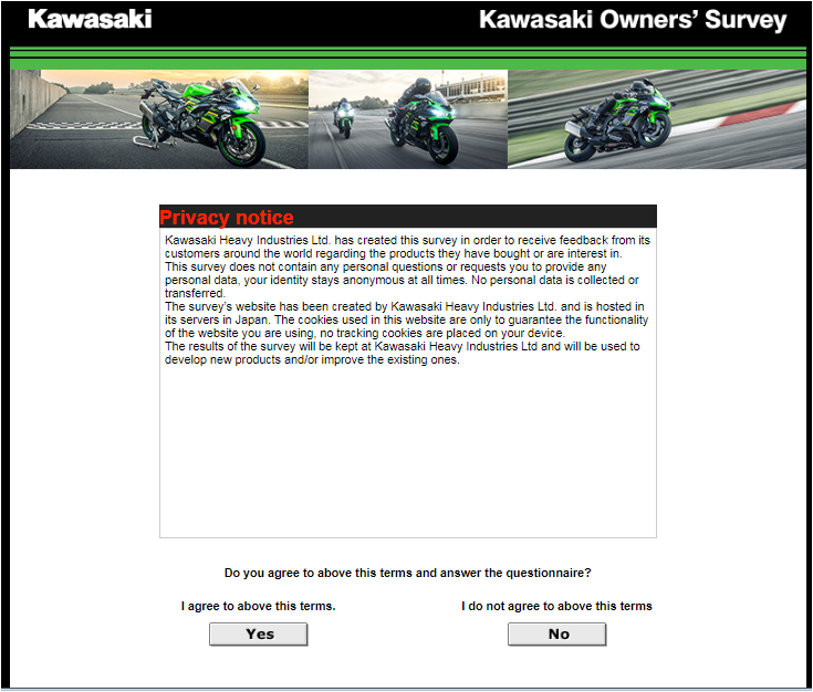 Kawasaki Customer Survey