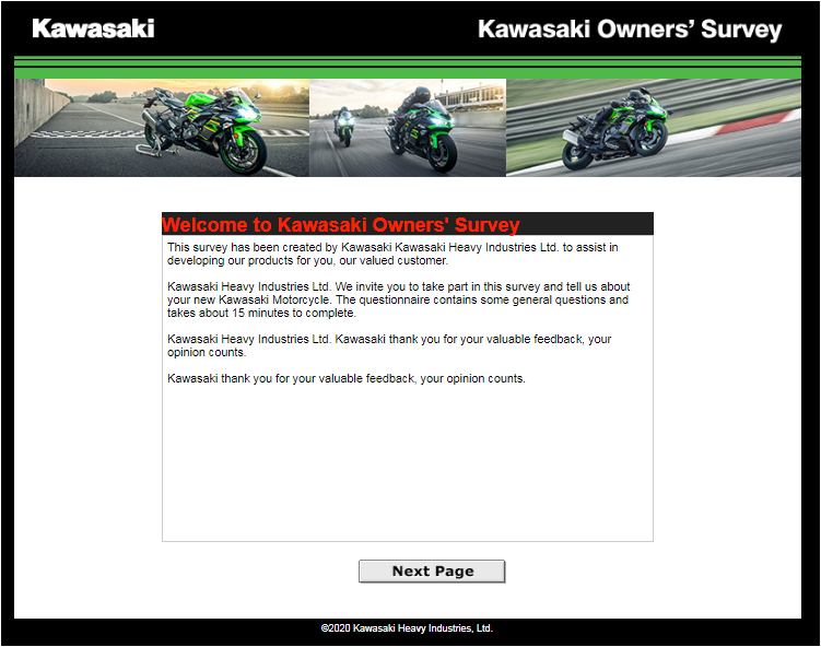 Kawasaki Owner's Survey