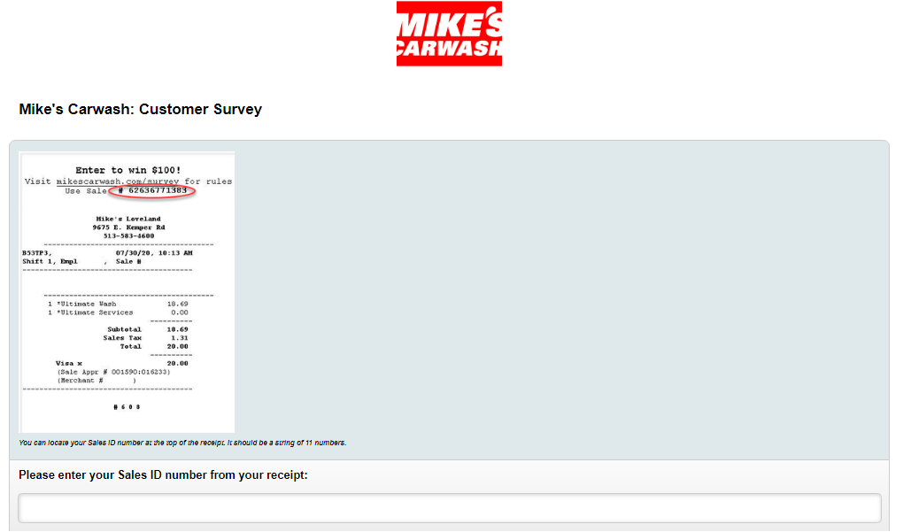 Mike's Carwash Guest Satisfaction Survey